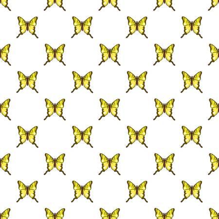 Iphiclides podalirius butterfly pattern in cartoon style. Seamless pattern vector illustration Illustration