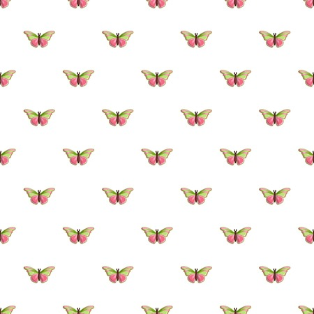 Esmeralda butterfly pattern in cartoon style. Seamless pattern vector illustration
