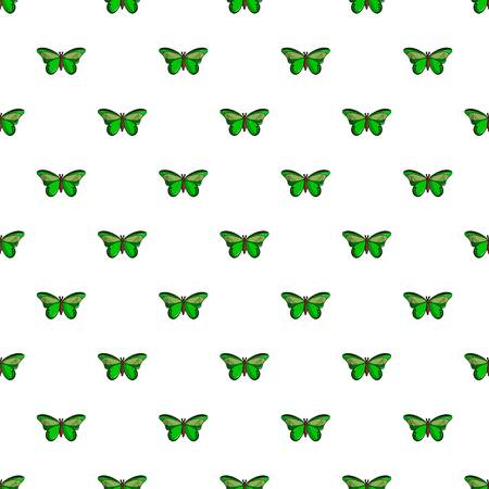 Butterfly great mormon pattern in cartoon style. Seamless pattern vector illustration