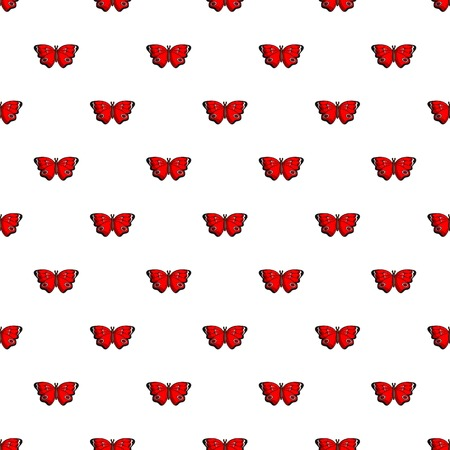 Sangaris butterfly pattern in cartoon style. Seamless pattern vector illustration