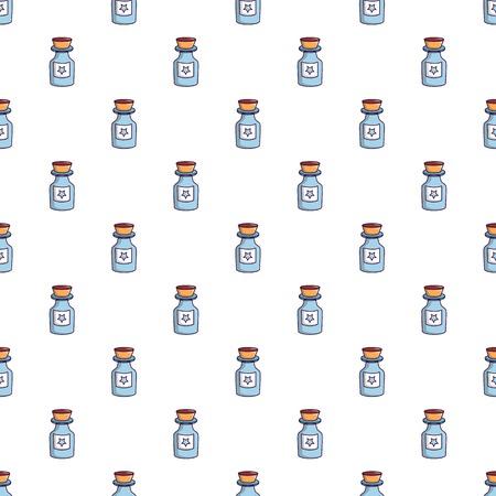 poison bottle: Bottle of magic pattern in cartoon style. Seamless pattern vector illustration Illustration