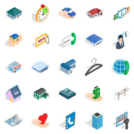 toilet: Homelike icons set. Isometric set of 25 homelike vector icons for web isolated on white background Illustration