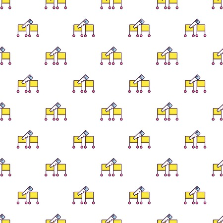 Cutting in half magic focus pattern in cartoon style. Seamless pattern vector illustration