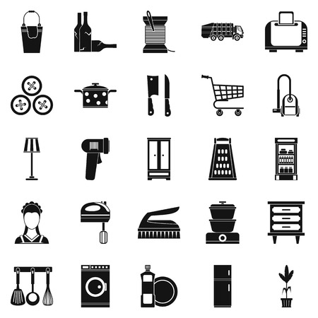 black family: Family life icons set. Simple set of 25 family life vector icons for web isolated on white background