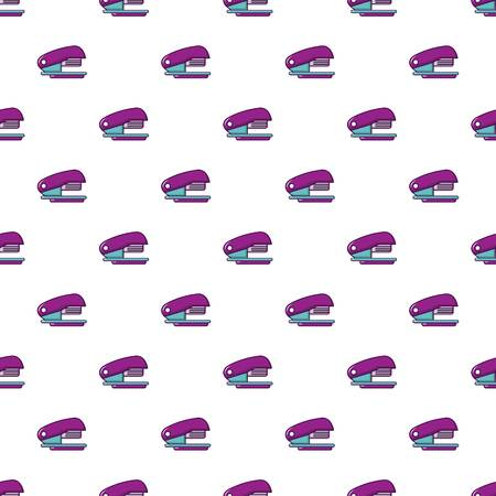 sheet metal: Stapler pattern in cartoon style. Seamless pattern vector illustration Illustration