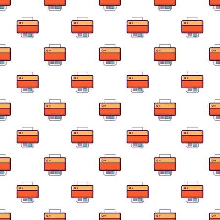 Printer pattern in cartoon style. Seamless pattern vector illustration