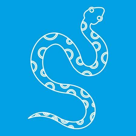 Venomous snake icon, outline style