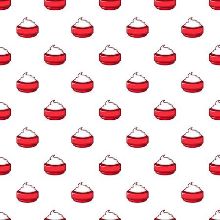 Ice cream pattern seamless Illustration