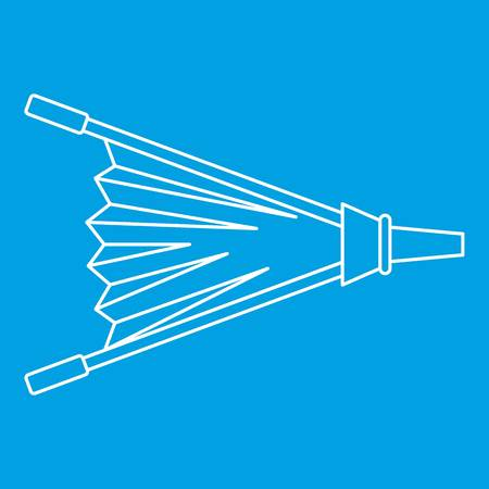 Fire bellows icon outline. Illustration