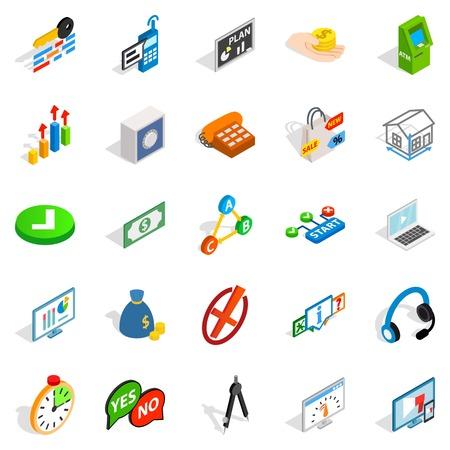 Image icons set, isometric style Illustration