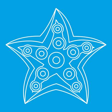 mollusc: Starfish icon outline