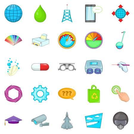 Undertaking icons set. Cartoon set of 25 undertaking vector icons for web isolated on white background Çizim