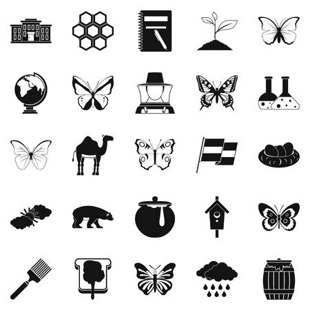 Crum icons set. Simple set of 25 crum vector icons for web isolated on white background