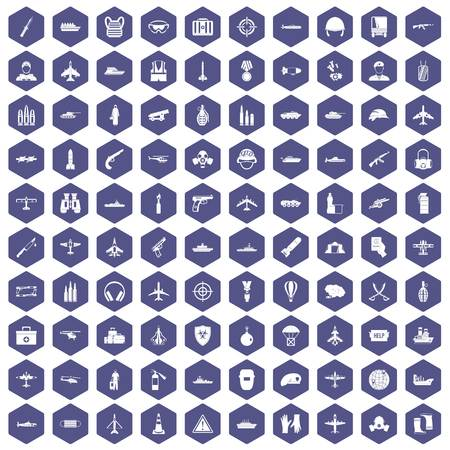 doctor gloves: 100 military resources icons hexagon purple