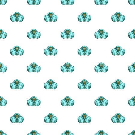Gas mask pattern in cartoon style. Seamless pattern vector illustration