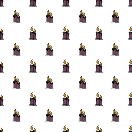Funeral candles pattern in cartoon style. Seamless pattern vector illustration