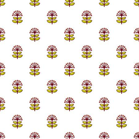 contemporary taste: Honey flower pattern in cartoon style. Seamless pattern vector illustration Illustration