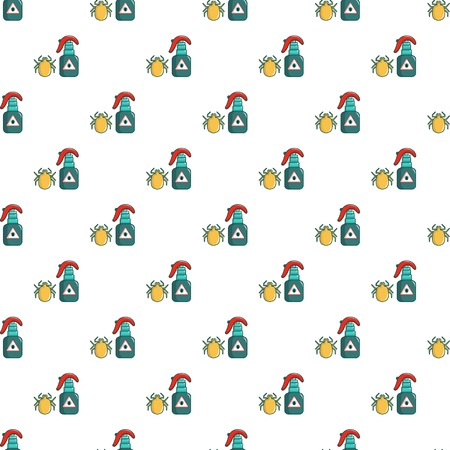 itchy: Acarus pattern in cartoon style. Seamless pattern vector illustration