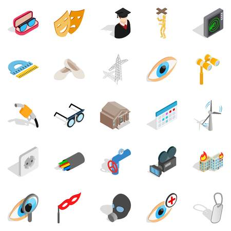 operation for: Operation icons set. Isometric set of 25 operation vector icons for web isolated on white background