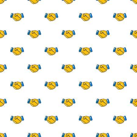 Handshake pattern in cartoon style. Seamless pattern vector illustration Illustration