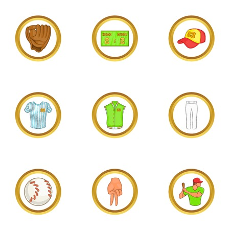 Soccer equipment icons set. Cartoon set of 9 soccer equipment vector icons for web isolated on white background Illustration