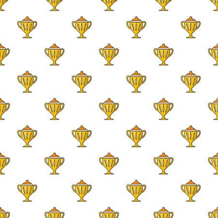 Hockey cup pattern in cartoon style. Seamless pattern vector illustration Illustration