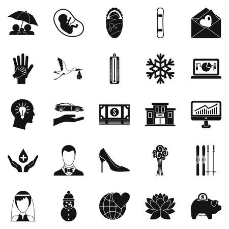 rich couple: Divertissement icons set. Simple set of 25 divertissement vector icons for web isolated on white background