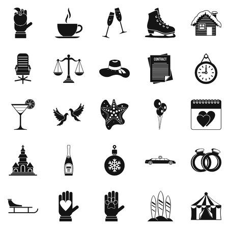 elation: Elation icons set. Simple set of 25 elation vector icons for web isolated on white background