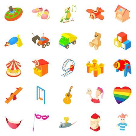 rich couple: Sunshine icons set. Cartoon set of 25 sunshine vector icons for web isolated on white background