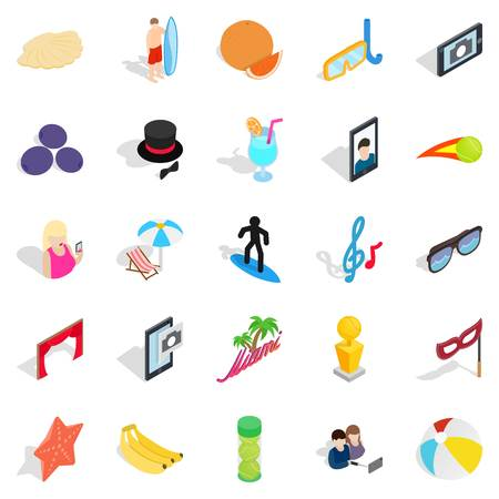 rich couple: Rejoicing icons set. Isometric set of 25 rejoicing vector icons for web isolated on white background