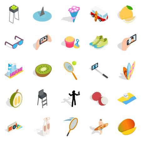 rich couple: Joy icons set. Isometric set of 25 joy vector icons for web isolated on white background