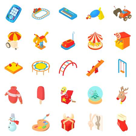 Childness icons set. Cartoon set of 25 childness vector icons for web isolated on white background Illustration