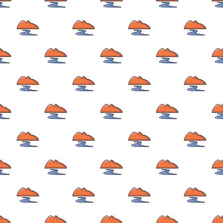sifting: Coal dump pattern in cartoon style. Seamless pattern vector illustration Illustration