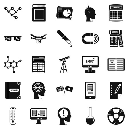 cognizance: Bursary icons set. Simple set of 25 bursary vector icons for web isolated on white background