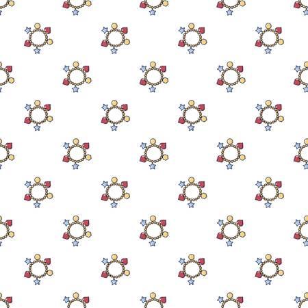 Bracelet pattern in cartoon style. Seamless pattern vector illustration Illustration
