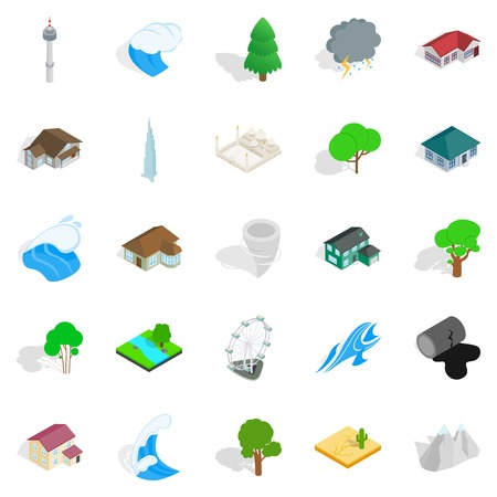 Terra icons set. Illustration