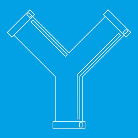 Industrial pipe alphabet letter Y icon