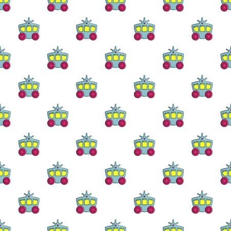 Princess carriage pattern in cartoon style. Seamless pattern vector illustration