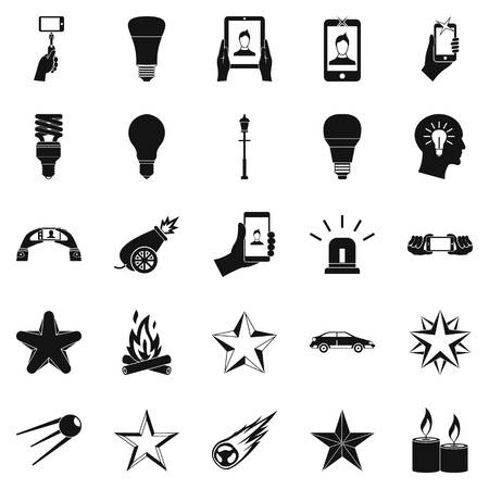 flicker: Flicker icons set, simple style