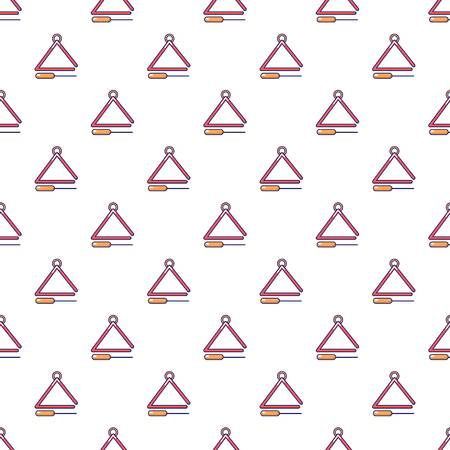 Musical triangle pattern seamless
