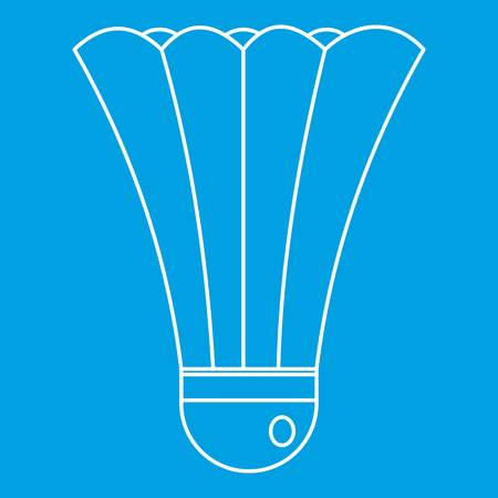 Shuttlecock icon, outline style