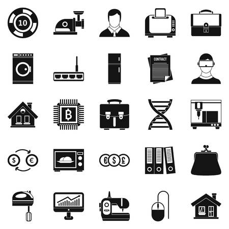 office building: Loan icons set. Simple set of 25 loan vector icons for web isolated on white background