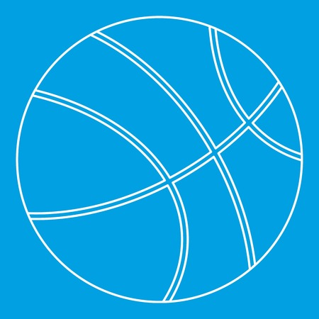 Basketball icon blue outline style isolated vector illustration. Thin line sign 向量圖像