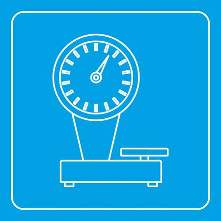 Weight scale icon outline