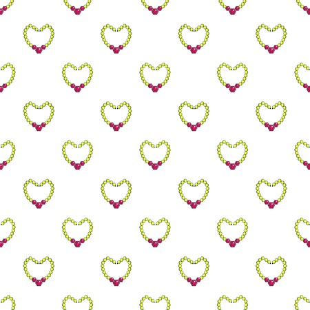 Briliant pearl necklace pattern seamless