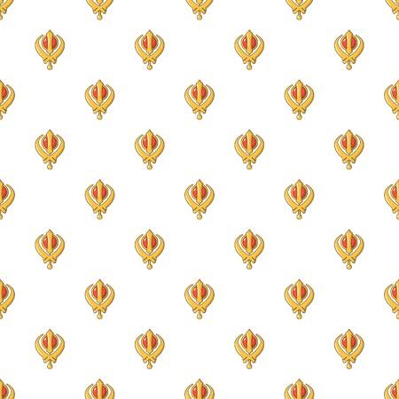 Khanda symbol sikhism religion pattern seamless