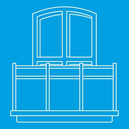 balustrade: Balcony icon, outline style