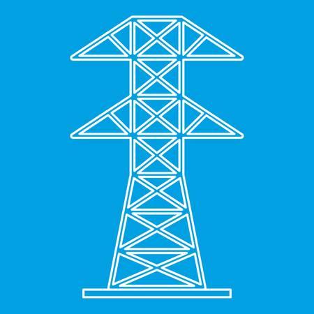 Icono de torre eléctrica, estilo de contorno Foto de archivo - 83703289