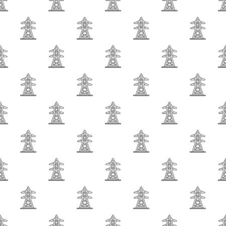 Electric tower pattern seamless