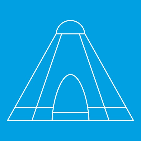 Tepee tent icon, outline style